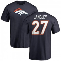 Men's Brendan Langley Denver Broncos Name & Number Logo T-Shirt - Navy