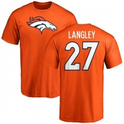 Men's Brendan Langley Denver Broncos Name & Number Logo T-Shirt - Orange