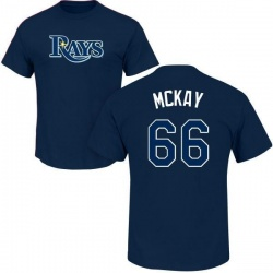 Men's Brendan McKay Tampa Bay Rays Roster Name & Number T-Shirt - Navy