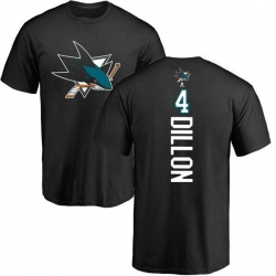 Men's Brenden Dillon San Jose Sharks Backer T-Shirt - Black