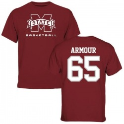 Men's Brett Armour Mississippi State Bulldogs Basketball T-Shirt - Maroon