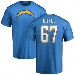 Men's Brett Boyko Los Angeles Chargers Name & Number T-Shirt - Blue