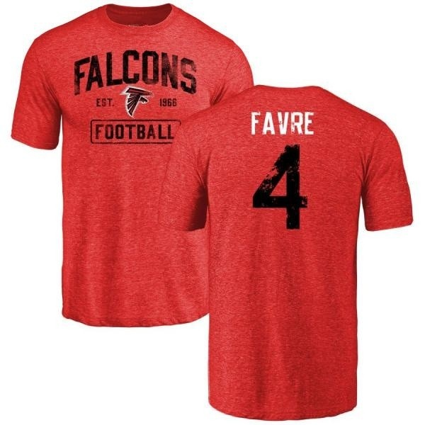 separation shoes 67e80 1f396 Men's Brett Favre Atlanta Falcons Distressed Name & Number Tri-Blend  T-Shirt - Red - Teams Tee