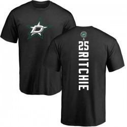 Men's Brett Ritchie Dallas Stars Backer T-Shirt - Black