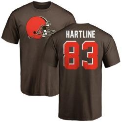 Men's Brian Hartline Cleveland Browns Name & Number Logo T-Shirt - Brown