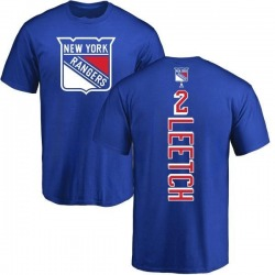Men's Brian Leetch New York Rangers Backer T-Shirt - Royal