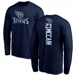 Men's Brice McCain Tennessee Titans Backer Long Sleeve T-Shirt - Navy