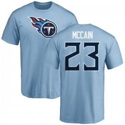 Men's Brice McCain Tennessee Titans Name & Number Logo T-Shirt - Light Blue