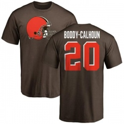 Men's Briean Boddy-Calhoun Cleveland Browns Name & Number Logo T-Shirt - Brown