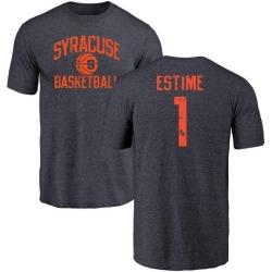 Men's Brisly Estime Syracuse Orange Distressed Basketball Tri-Blend T-Shirt - Navy