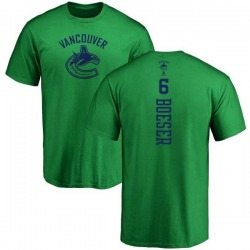 Men's Brock Boeser Vancouver Canucks One Color Backer T-Shirt - Kelly Green
