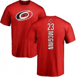 Men's Brock McGinn Carolina Hurricanes Backer T-Shirt - Red