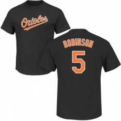 Men's Brooks Robinson Baltimore Orioles Roster Name & Number T-Shirt - Black