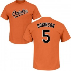 Men's Brooks Robinson Baltimore Orioles Roster Name & Number T-Shirt - Orange
