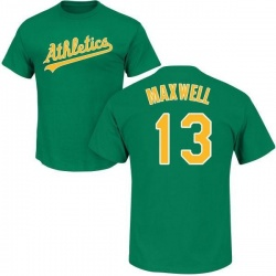 Men's Bruce Maxwell Oakland Athletics Roster Name & Number T-Shirt - Green