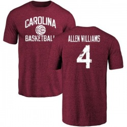Men's Bryson Allen-Williams South Carolina Gamecocks Distressed Basketball Tri-Blend T-Shirt - Maroon
