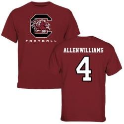 Men's Bryson Allen-Williams South Carolina Gamecocks Football T-Shirt - Maroon
