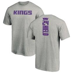 Men's Buddy Hield Sacramento Kings Ash Backer T-Shirt