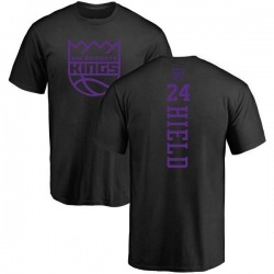 Men's Buddy Hield Sacramento Kings Black One Color Backer T-Shirt