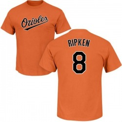 Men's Cal Ripken Baltimore Orioles Roster Name & Number T-Shirt - Orange