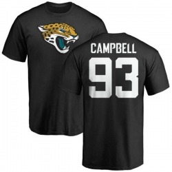 Men's Calais Campbell Jacksonville Jaguars Name & Number Logo T-Shirt - Black