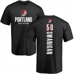 Men's Caleb Swanigan Portland Trail Blazers Black Backer T-Shirt