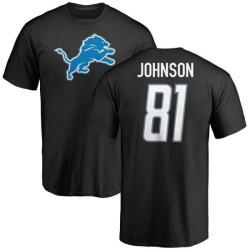 Men's Calvin Johnson Detroit Lions Name & Number Logo T-Shirt - Black