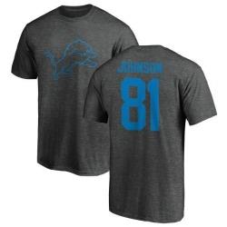 Men's Calvin Johnson Detroit Lions One Color T-Shirt - Ash