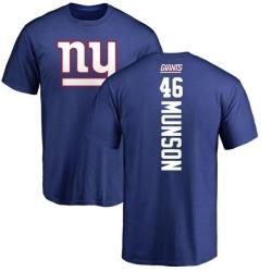 Men's Calvin Munson New York Giants Backer T-Shirt - Royal