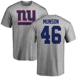 Men's Calvin Munson New York Giants Name & Number Logo T-Shirt - Ash