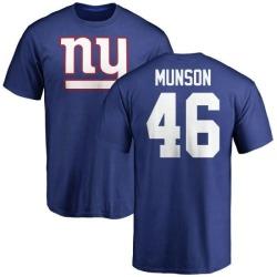 Men's Calvin Munson New York Giants Name & Number Logo T-Shirt - Royal