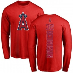 Men's Cam Bedrosian Los Angeles Angels Backer Long Sleeve T-Shirt - Red