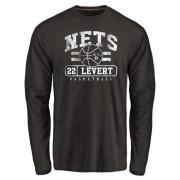 Men's Caris LeVert Brooklyn Nets Black Baseline Tri-Blend Long Sleeve T-Shirt