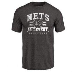 Men's Caris LeVert Brooklyn Nets Black Baseline Tri-Blend T-Shirt