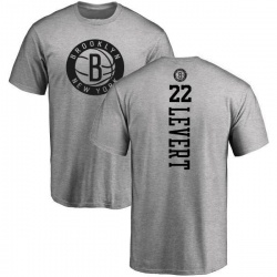 Men's Caris LeVert Brooklyn Nets Heathered Gray One Color Backer T-Shirt