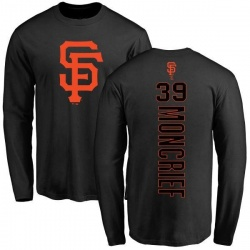 Men's Carlos Moncrief San Francisco Giants Backer Long Sleeve T-Shirt - Black
