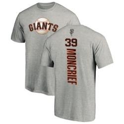 Men's Carlos Moncrief San Francisco Giants Backer T-Shirt - Ash