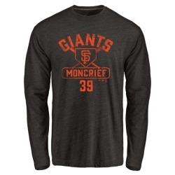Men's Carlos Moncrief San Francisco Giants Base Runner Tri-Blend Long Sleeve T-Shirt - Black