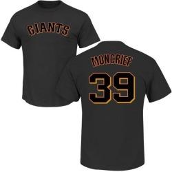 Men's Carlos Moncrief San Francisco Giants Roster Name & Number T-Shirt - Black