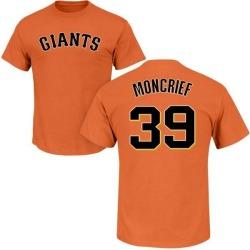 Men's Carlos Moncrief San Francisco Giants Roster Name & Number T-Shirt - Orange