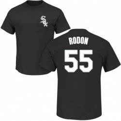 Men's Carlos Rodon Chicago White Sox Roster Name & Number T-Shirt - Black