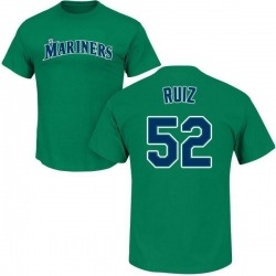 Men's Carlos Ruiz Seattle Mariners Roster Name & Number T-Shirt - Green