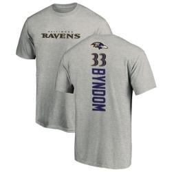 Men's Carrington Byndom Baltimore Ravens Backer T-Shirt - Ash