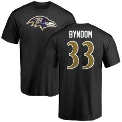 Men's Carrington Byndom Baltimore Ravens Name & Number Logo T-Shirt - Black