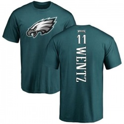 Men's Carson Wentz Philadelphia Eagles Backer T-Shirt - Green