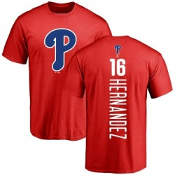 Men's Cesar Hernandez Philadelphia Phillies Backer T-Shirt - Red