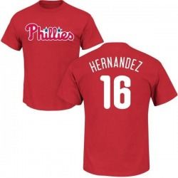 Men's Cesar Hernandez Philadelphia Phillies Roster Name & Number T-Shirt - Red