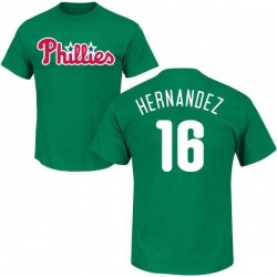 Men's Cesar Hernandez Philadelphia Phillies St. Patrick's Day Roster Name & Number T-Shirt - Green