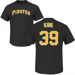 Men's Chad Kuhl Pittsburgh Pirates Roster Name & Number T-Shirt - Black