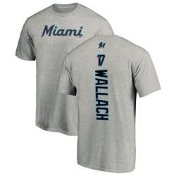 Men's Chad Wallach Miami Marlins Backer T-Shirt - Ash